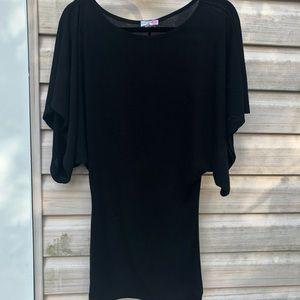 Batwing style Little Black Dress